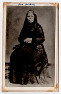 Photographie Ancienne * Grand-mère * Portugal * 14 X 9 Cm * Fotografia Antiga Avó - Antiche (ante 1900)
