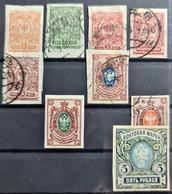 RUSSIA 1917 - MLH/canceled - Sc# 119-123, 125, 128, 130, 133 - Oblitérés