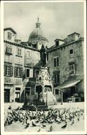 CPA Dubrovnik Kroatien, Gundulic Denkmal, Tauben, Häuser - Kroatien