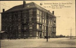 CPA Ostende Westflandern, Sanatorium Maritime St. Vincent De Paul & Institut Delcroix, Vue Extérieure - Other