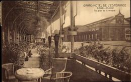 CPA Bruxelles Brüssel, Grand Hotel De L' Espérance, Vue Prise De La Terrasse - Brussels (City)