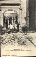 CPA Badonviller Lothringen Meurthe Et Moselle, Intérieur De L'Église Après Le Bombardement - Sonstige Gemeinden