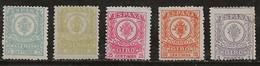Espagne 1915-1920 N° Y&T : TM. 1 à 5 * (3 Sans Gomme) - Mandate
