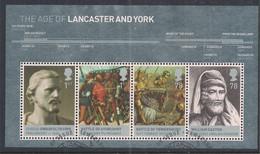 GB 2008 QE2  Kings & Queens House Of Lancaster & York Mini Sheet  MS2818 Ex FDC ( H1100 ) - Blocks & Kleinbögen