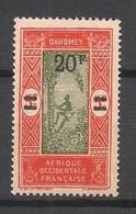 Dahomey - 1926 - N°Yv. 84 - 20f Sur 5f - Variété Sans Point Après F - Neuf Luxe ** / MNH / Postfrisch - Neufs