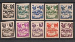 Guadeloupe - 1947 - Taxe TT N°Yv. 41 à 50 - Série Complète - Non Dentelé / Imperf. - Neuf Luxe ** / MNH / Postfrisch - Postage Due