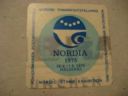 HELSINKI 1975 Nordic Stamp Exhibition Poster Stamp Vignette FINLAND Label - Sonstige