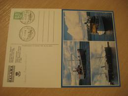 SALAMA Steam Schooner Saimaa Channel Ship Card SAVONLINNA 1978 Cancel FINLAND + Postcard - Sonstige