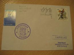 RANNIKKOLAIVASTO 2 Vko Ohjlv Finland Coastal Fleet Poster Stamp Ship Cover Visit KIEL 1991 Sailing Woche Cancel GERMANY - Sonstige