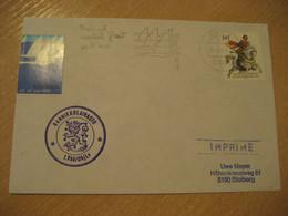 RANNIKKOLAIVASTO 1 Vko Ohjlv Finland Coastal Fleet Poster Stamp Ship Cover Visit KIEL 1991 Sailing Woche Cancel GERMANY - Sonstige