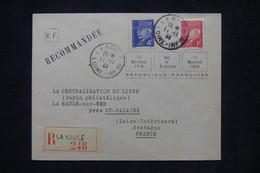 FRANCE. - Enveloppe En Recommandé De La Baule En 1944 Pour La Baule ( Poche De St Nazaire )  - L 104261 - Guerra Del 1939-45