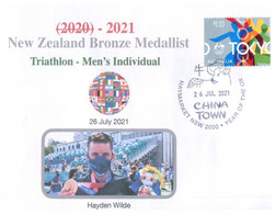(XX 18 A) 2020 Tokyo Summer Olympic Games - New Zealand Bronze Medal 26-7-2021 - Triathlon Men's (new Olympic Stamp) - Eté 2020 : Tokyo