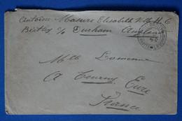 Z9  CONGO BELGE  BELLE LETTRE RARE  1917  ELISABETHVILLE BIRTLEY DURHAM POUR TOURNAY  FRANCE+ AFFRANCH. INTERESSANT - Non Classés