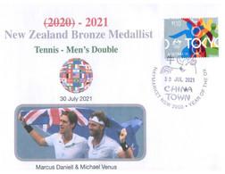 (XX 18 A) 2020 Tokyo Summer Olympic Games - New Zealand Bronze Medal 30-7-2021 - Tennis - Men's (new Olympic Stamp) - Eté 2020 : Tokyo