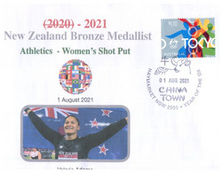 (XX 18 A) 2020 Tokyo Summer Olympic Games - New Zealand Bronze Medal 1-8-2021 - Women's Shot Put (new Olympic Stamp) - Eté 2020 : Tokyo