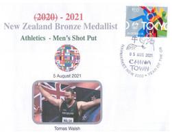 (XX 18 A) 2020 Tokyo Summer Olympic Games - New Zealand Bronze Medal 5-8-2021 - Men's Shot Put (new Olympic Stamp) - Eté 2020 : Tokyo