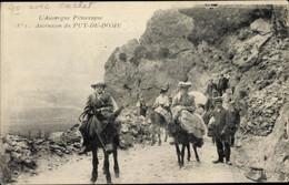 CPA Puy De Dôme, Ascension Du Puy De Dome, Touristen, Esel - Autres Communes