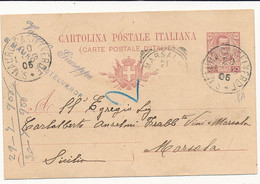 1906 S MAURO CASTELVERDE CERCHIO GRANDE - Marcophilie