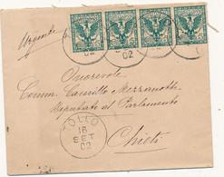1902 TOLLO CERCHIO GRANDE - Marcophilia