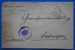 Z9   BELGIQUE  BELLE LETTRE  RARE  1915   BRUSSELS POUR  ANVERS  + AFFRANCH. INTERESSANT - Ohne Zuordnung