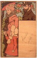 Art Nouveau - Couple - Bois ? Rare        (7739 ASO) - 1900-1949