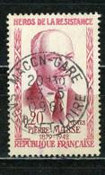 FRANCE - MASSE - N° Yvert 1249 Obli. Ronde De MACON GARE De 0961 POUR 1960(ANNÉE INVERSÉE DANS LE BLOC DATEUR) - Gebraucht