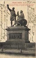 MOSCOU  Monument De Minine Et Pojarsky Sur La Place Rouge Pionnière  RV  Beau Timbre 3 Beaux Cachets - Russie