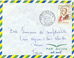 GABON PORT-GENTIL TàD 29.1.1963 TIMBRE LÉON MBA 25 F. - Gabon