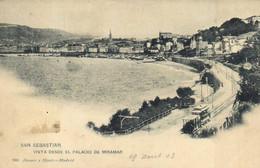 SAN SEBASTIAN  VISTA DESDE EL PALACIO DE MIRAMAR  Tram Pionnière RV - Guipúzcoa (San Sebastián)
