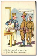 CPA Fantaisie Militaria Infirmerie Croix Rouge - Humoristiques
