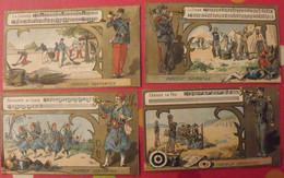 4 Images Chromo. Chocolat Carpentier Thé Royal. Musique Militaire. Clairon. Vers 1880 - Autres