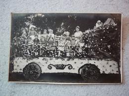 36.  RARE CARTE PHOTO CHAR FLEURI JEUNE ENFANTS  VALENCAY VIC SUR NAHON CHATEAUROUX A SITUER - Autres Communes
