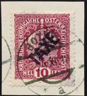 ITALIA - TRENTINO - Sassone BZ3/ 37 - Cat. 180 Euro - Segnatasse Provvisorio Usato Su Frammento - Trente
