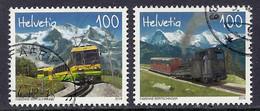 Switzerland / Schweiz 2018 Railways - Wengernalp Bahn, Schynige Platte, Train, Trains, Mountains, Berner Oberland - Used - Oblitérés