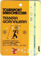 SKIPASS TESSERA GIORNALIERA BARDONECCHIA 1986 - Toegangskaarten