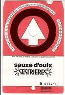 SKIPASS TESSERA GIORNALIERA SAUZE D'OULX 1986 - Toegangskaarten