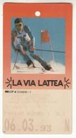 SKIPASS ABBONAMENTO GIORNALIERO VIA LATTEA 1993 - Toegangskaarten