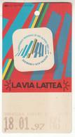 SKIPASS ABBONAMENTO GIORNALIERO VIA LATTEA 1997 - Toegangskaarten