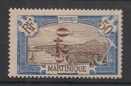 Martinique - 1924 - N°Yv. 110a - 25c Sur 50c Bleu - Variété Surcharge Renversée - Neuf Luxe ** / MNH / Postfrisch - Ungebraucht