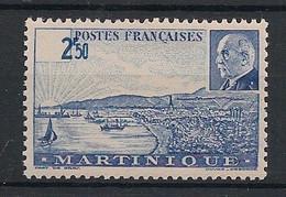Martinique - 1941 - N°Yv. 190b - Pétain 2f50 Bleu - Variété Valeur Hors Cartouche - Neuf Luxe ** / MNH / Postfrisch - Neufs