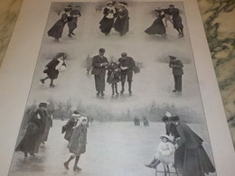 PHOTO PATINAGE A CHAMONIX  1908 - Pattinaggio Artistico