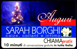 G CHI 384 SCHEDA TELEFONICA CHIAMAGRATIS MINT MASTER SARAH BORGHI AUGURI - Private-Omaggi