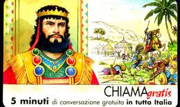 G CHI 613 SCHEDA TELEFONICA CHIAMAGRATIS MINT MASTER PERSONAGGI 7 SAUL - Private-Omaggi