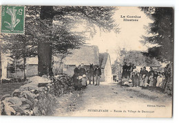 CPA 19 Peyrelevade Entrée Du Village De Drouillat - Other Municipalities