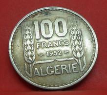 100 Francs Turin 1952 - TB+ - Pièce De Monnaie Algérie Collection - N19516 - Algeria