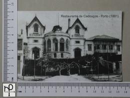 PORTUGAL - RESTAURANTE DE CADOUÇOS -  PORTO -   2 SCANS  - (Nº44334) - Porto