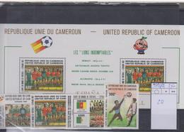 Kamerun Michel Cat.No. Mnh/** 989/982 + Sheet 20 Soccer - Camerun (1960-...)