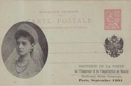 "FRANCE : ENTIER POSTAL . 10 Cts . TYPE MOUCHON . CP . REPIQUAGE HUOT . "" LA TSARINE "" . 1901 . - Cartoline Postali Ristampe (ante 1955)"