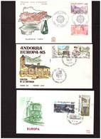 EUROPA CEPT 1983   /    GIRO COMPLETO FDC - 1983