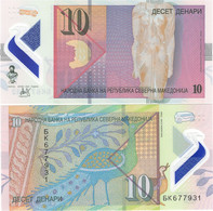 NORTH MACEDONIA       10 Denari       P-New       4.2020 (2021)       UNC - Macedonia